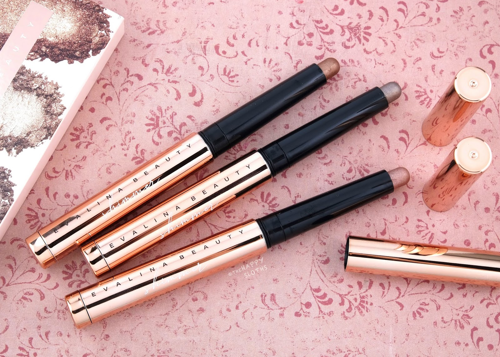 Evalina Beauty | Shimmer Eyeshadow Stick: Review and Swatches