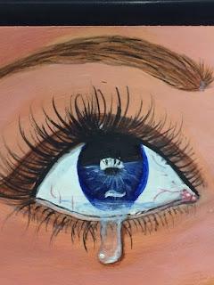 Cynthia R. - arte-don-y-pasion- Costa-Rica, ojo azul, lágrimas