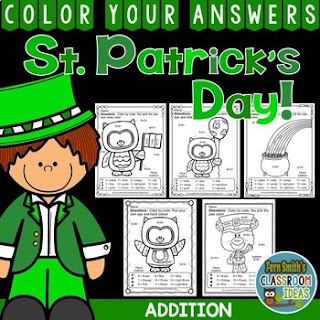 EVEN MORE St. Patrick's Day Color By Number Addition
