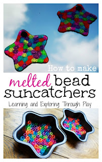 Melted Bead Suncatcher Craft - Learning and Exploring Through Play