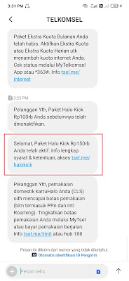 upgrade Halo Kick 150 ribu