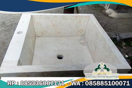 Wastafel Pedestal Marmer, Wastafel Pedestal, Model Wastafel Batu Marmer