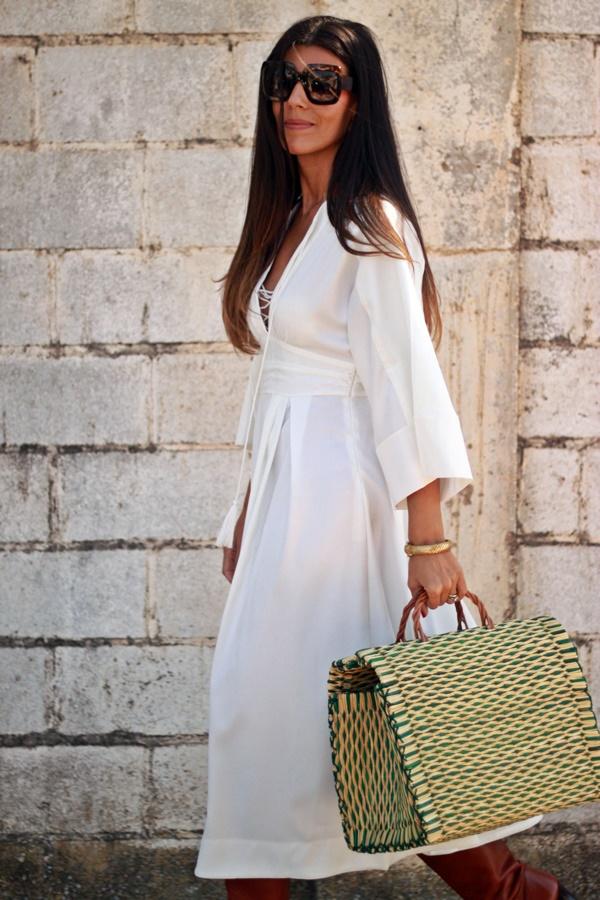 Vestido midi, vestido blanco, white dress