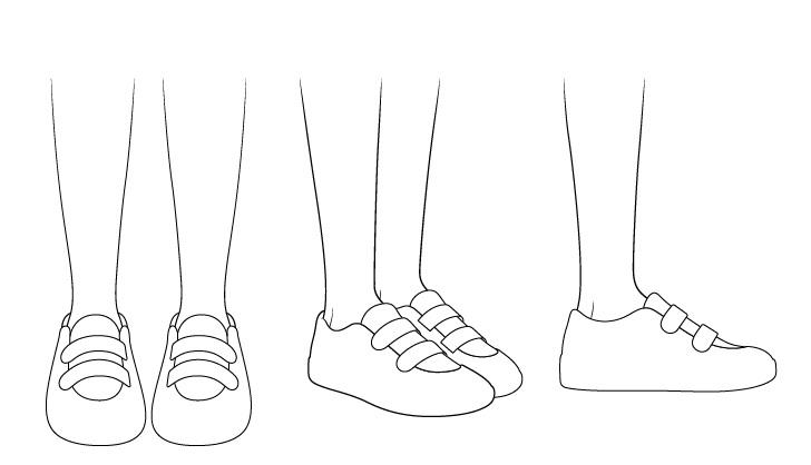 Gambar garis sepatu lari anime