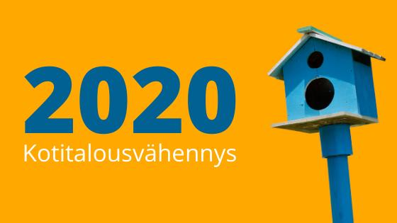 Kotitalousvähennys vuonna 2020