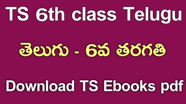 TS 6th Class Telugu Textbook PDf Download | TS 6th Class Telugu ebook Download | Telangana class 6 Telugu Textbook Download