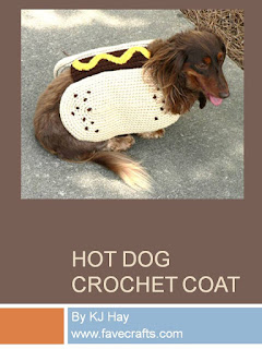 http://www.favecrafts.com/Pet-Crochet-Patterns/Hot-Dog-Crochet-Coat