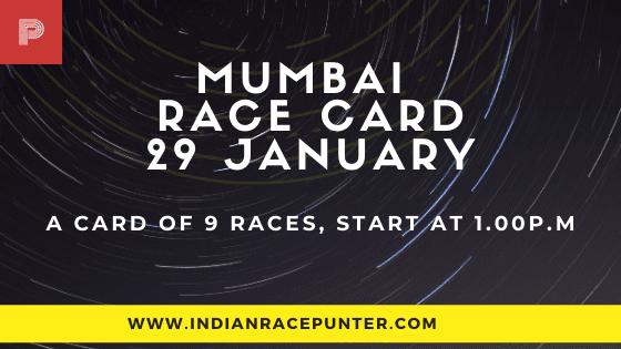 Mumbai Race Card 29 January