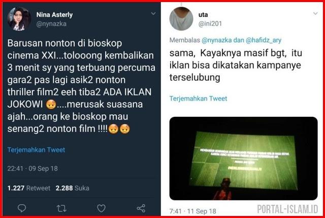 Iklan Jokowi Nongol Di Bioskop, Penonton Kesal, Merusak Suasana!