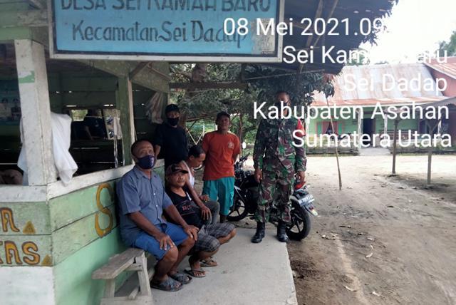 Jalin Silaturahmi Dengan Perangkat Desa, Personel Jajaran Kodim 0208/Asahan Laksanakan Komsos Bersama Masyarakat