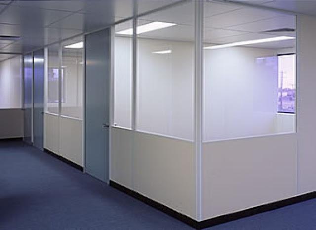 Sử dụng vách ngăn nhôm kính đem lại không gian làm việc hiệu quả