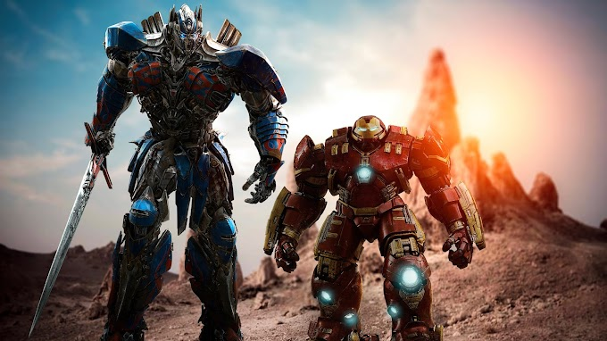 Optimus Prime e Hulk Buster