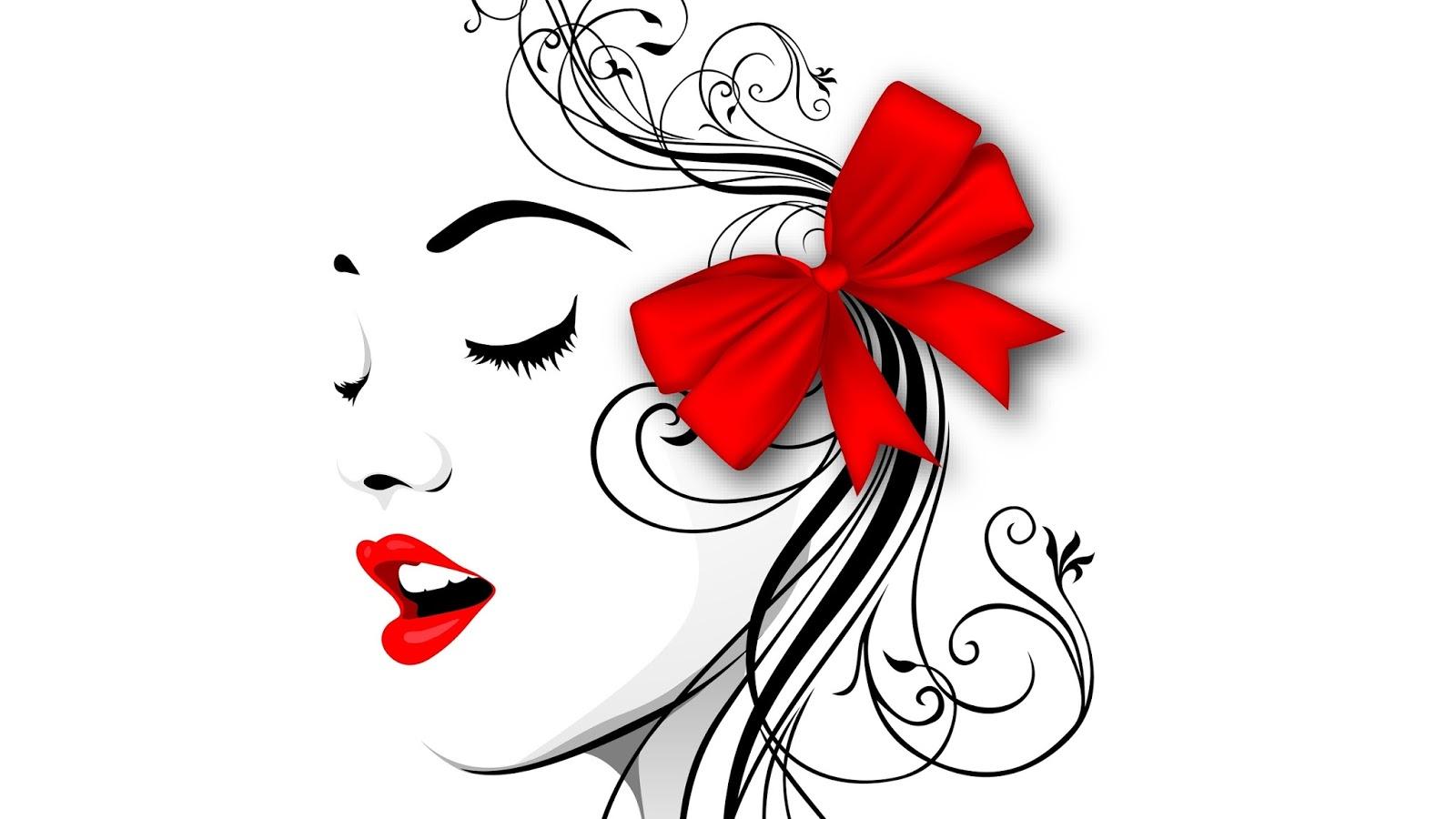 Нарисованная девушка для косметики