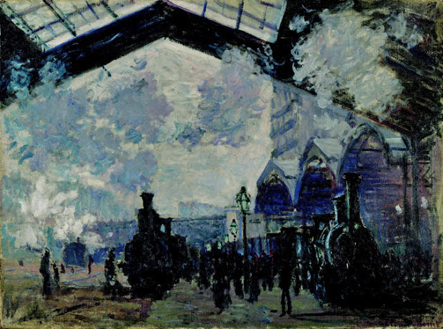 Monet et la Gare Saint Lazare 4%2BLa%2BGare%2BSaint-Lazare%2BClaude%2BMonet%2B1877