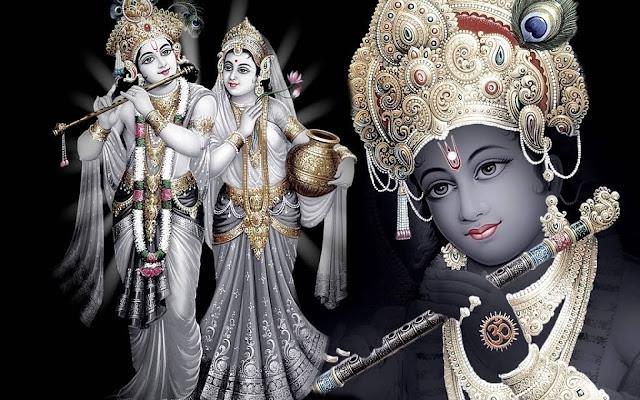 Best Radha & Krishna HD Wallpaper In Black Background