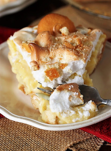 Taking a Bite of Banana Pudding Pie Image