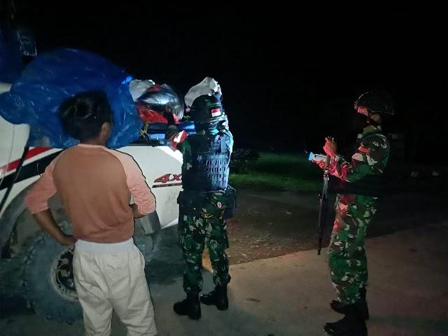 Jaga Stabilitas Kemanan, Satgas Yonif 512 Adakan Sweeping Di Km 76 Jalan Trans Jayapura-Wamena