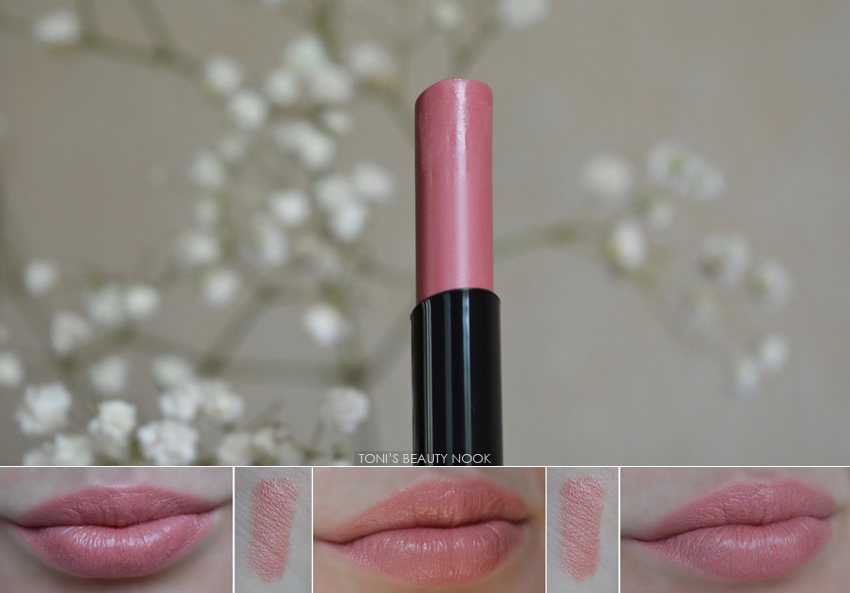 avon shine burst gloss stick rose swatch