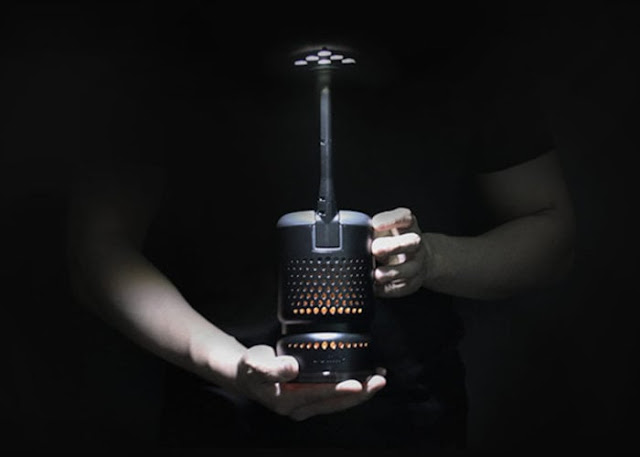 Lumix K cooking oil powered camping lantern