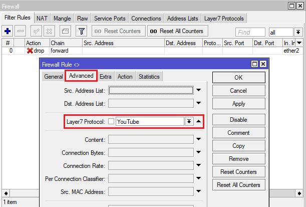 cara blok situs mikrotik layer 7 protocol