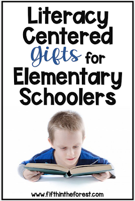 Pin Image for 15 Literacy Centered Gifts for Elementary Schoolers