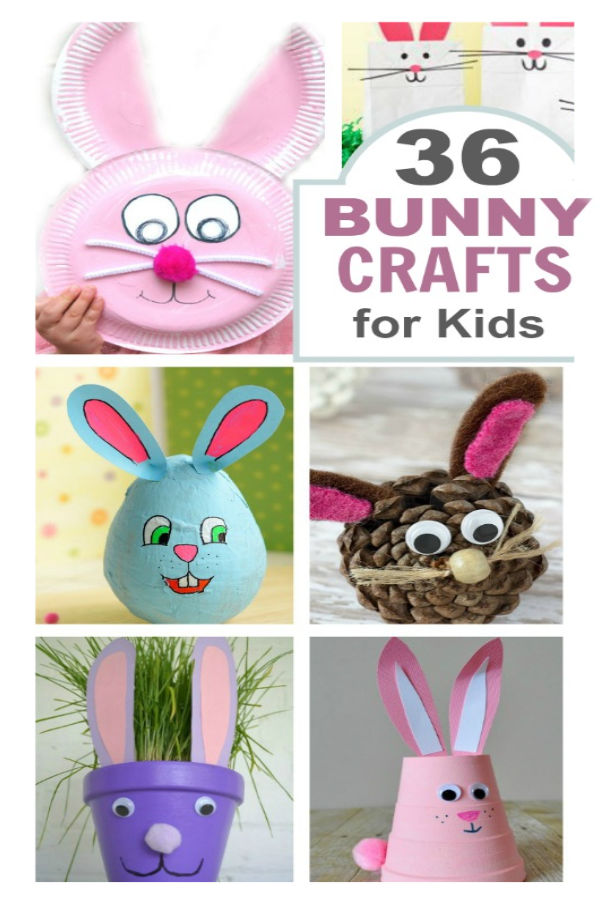 36 BUNNY CRAFTS FOR KIDS. Such cute ideas! Pinning for later #eastercraftsforkids #bunnycrafts #easterbunnycrafts #paperplatebunny #eastercraftsdiy #easterbunny #easteractivitieskids #easteractivitiesfortoddlers