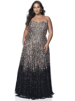 Sweetheart A-line Intrigue by Blush plus size porn dress lvory color