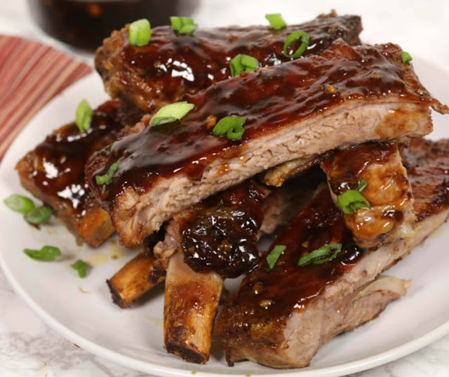 Slow Cooker Sticky Korean Ribs