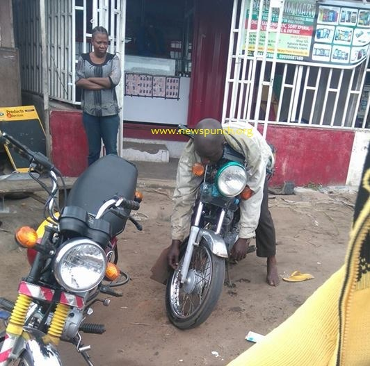 HAPPENING NOW: Sad!! As 'Abuja Boy', Okada Rider Slumps, Dies on Top of Own Okada In Badagry ...See Photos
