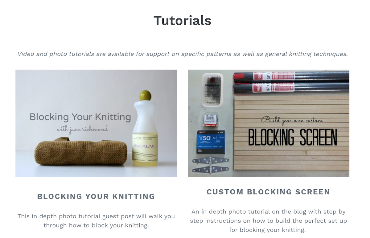 Jane Richmond / Knitting Tutorials