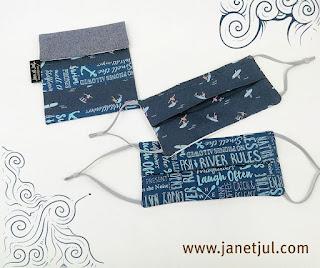 Mascarillas de tela higiénicas y bolsa para mascarillas cosidas por Jan et Jul