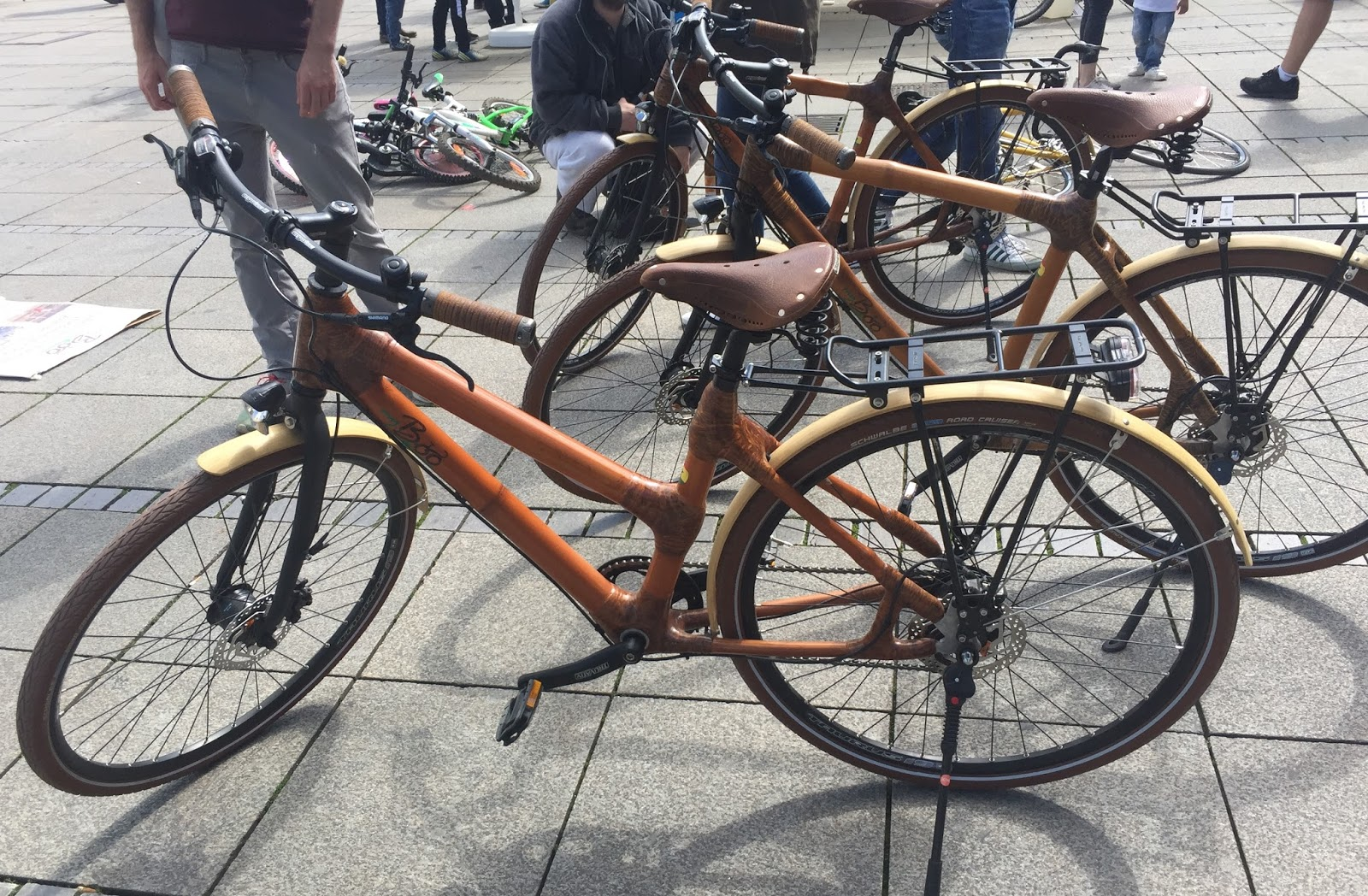 Radfahren in Stuttgart: Bambus-Räder aus Ghana