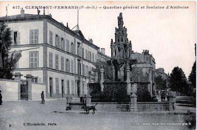 Clermont-Ferrand la fontaine d'Amboise