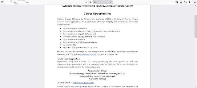 Ministry of Energy Government of Pakistan Jobs 2021 – NEECA JobsLatest