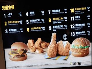 麥當勞菜單2021