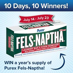 Purex Fels-Naptha #Giveaway #sweepstakes