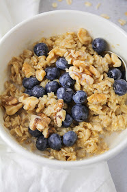 This simple and delicious oatmeal recipe is the perfect amount for one person. It's the perfect healthy breakfast!