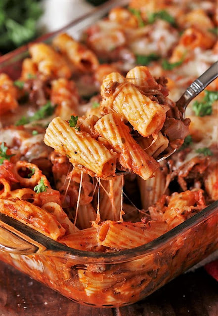 25+ Dinner Recipes with Macaroni, Pasta & Noodles - Easy Baked Mostaciolli Image