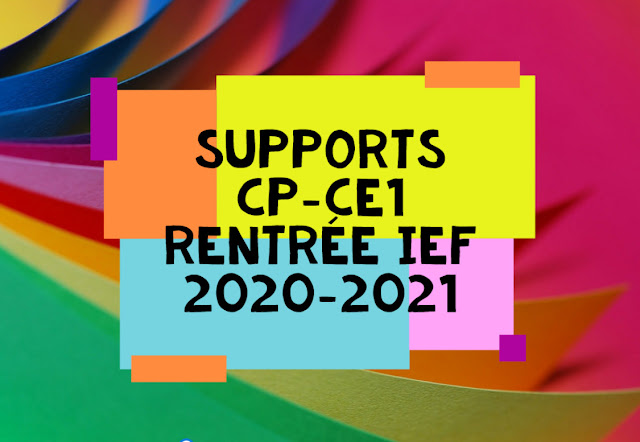 Supports manuels CP-CE1 IEF 2020-2021