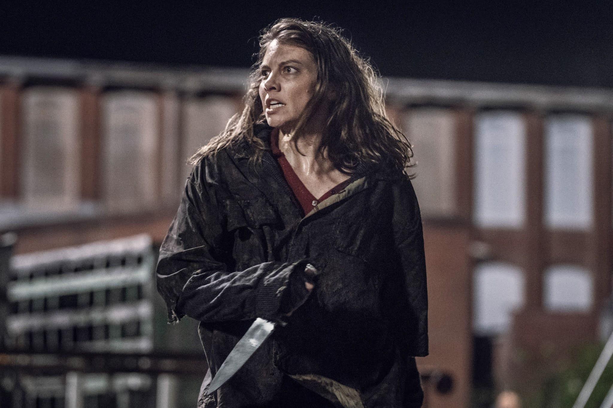 Maggie lucha dentro de Meridian en el 11x08 de The Walking Dead