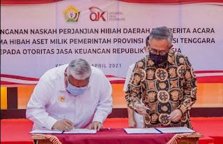 Gubernur Ali Mazi Minta OJK Bantu Besarkan Bank Sultra Menjadi Bank Terkemuka