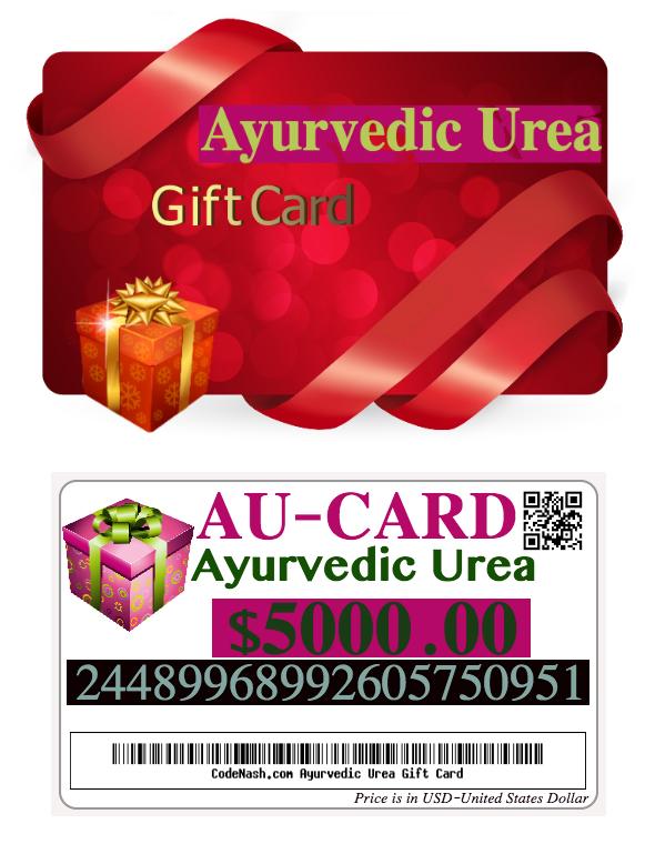 Ayurvedic Urea gift cards buy gift certificates online