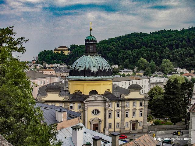 Salzburgo vista do Nonnberg, convento da Noviça Rebelde