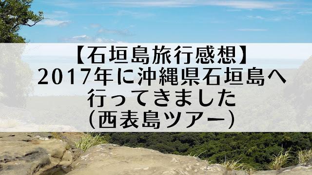 【石垣島旅行感想】2017年に沖縄県石垣島へ行ってきました(西表島ツアー)