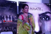 Bollywood Actress Raveena Tandon in Transparent Green Saree at Trailer Launch Of Film Maatr  0016.JPG