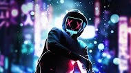 Guy with Mask Digital Art Mobile Wallpaper