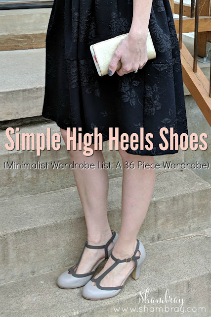 Simple High Heels Shoes (Minimalist Wardrobe List: A 36 Piece Wardrobe)
