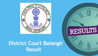 District Court Balangir Junior Clerk Copyist Result