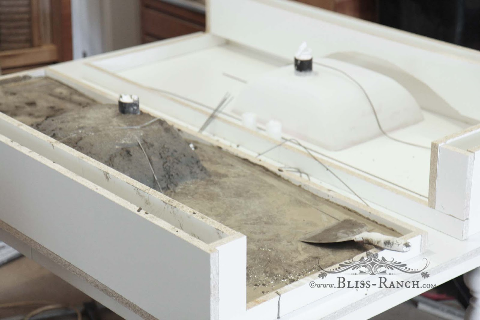 Bliss Ranch Poured Concrete Bathroom Vanity Top