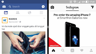 facebook instagram split screen android nougat